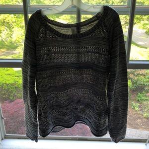 Marled grey knit sweater